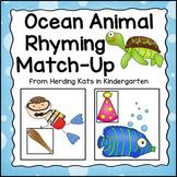 Ocean Animals Rhyming Match-Up