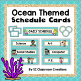 Ocean Themed Schedule Cards-Classroom Decor
