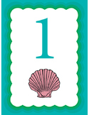 Ocean Themed Seashell Counters: Numbers 1-10