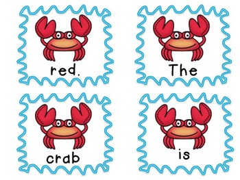 Ocean Themed Sentence Scramble