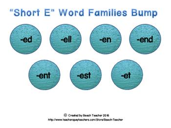 """Ocean Themed """"Short E"""" Word Family Bump"""
