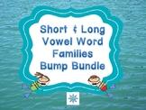 Ocean Themed Short & Long Vowel Word Families Bump Bundle
