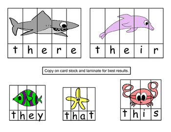 Ocean Themed Sight Word Center