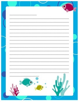 Ocean Themed Stationary