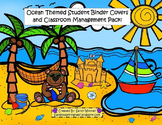 Ocean Themed Binder Covers, Sand Dollars, and Classroom Management Pack!