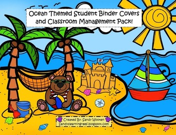 Ocean Themed Binder Covers, Sand Dollars, and Classroom Ma