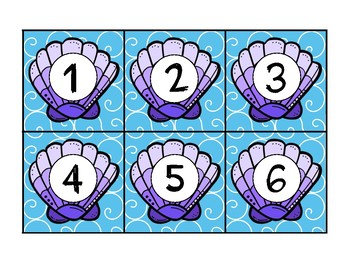 Ocean Themed Student Number Labels
