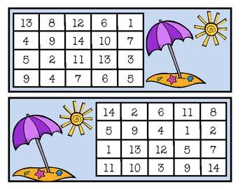 Ocean Themed Summer Math Games