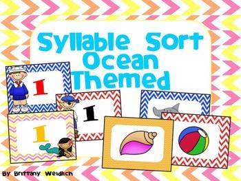 Ocean Themed Syllable Sort