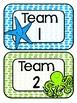 Ocean Themed Table/ Group Signs (Classroom Decor)