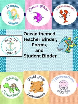 Ocean Themed Teacher Binder and More