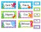 Ocean Themed Toolbox Labels