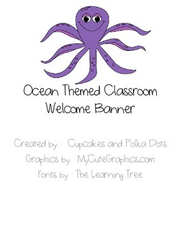 Welcome Banner Ocean Themed