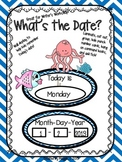 "Ocean Themed ""What's the Date?"" Writer's Workshop Date Posters"