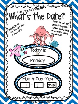 """Ocean Themed """"What's the Date?"""" Writer's Workshop Date Posters"""