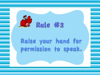 Ocean Themed Class Rules Posters