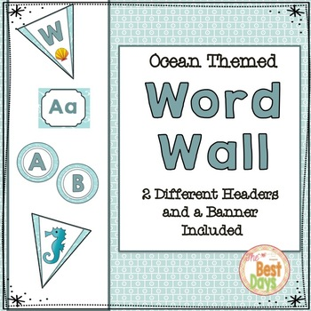 Ocean Themed Word Wall Display