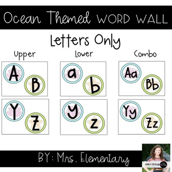 Ocean Themed Word Wall - Letters Only