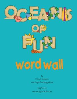 Ocean Themed Word Wall