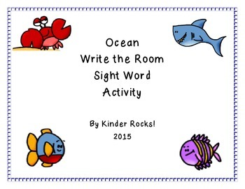 Ocean Themed Write the Room