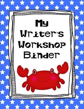 Ocean Themed Writer's Workshop Binder