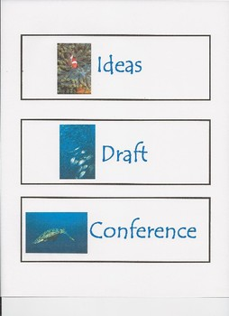Ocean Themed Writer's Workshop Signs
