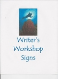 Ocean Themed Writer's Workshop Signs
