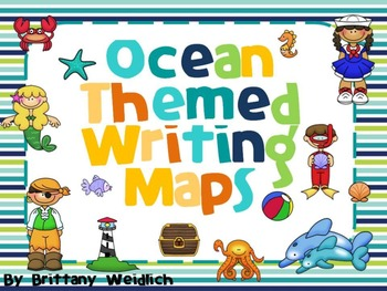 Ocean Themed Writing Maps