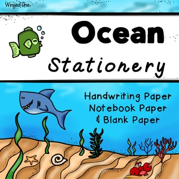 Ocean Themed Writing Paper / Stationery