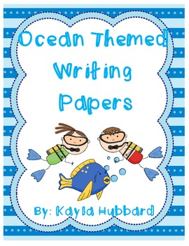 Ocean Themed Writing Papers