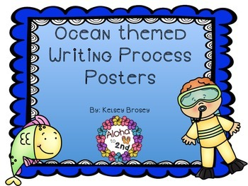 Ocean Themed Writing Process Posters