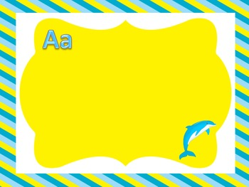 Ocean Themed Yellow and Blue Word Wall