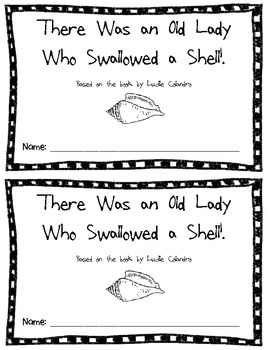 Ocean-There Was an Old Lady Who Swallowed a Shell! Book Activities
