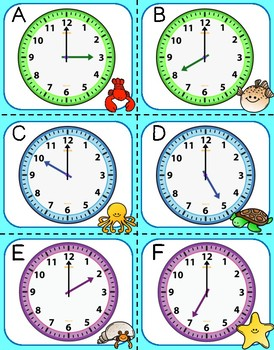 Ocean Time- Telling Time to the Nearest Hour