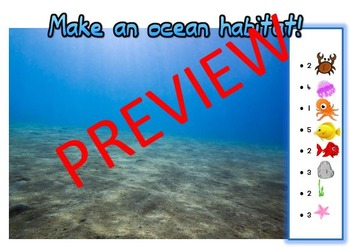 Ocean Topic- counting and recognizing numbers to 10
