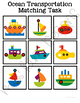 Ocean Transportation Matching Folder Game for Special Education