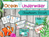 Ocean & Under Water EDITABLE Classroom Decor Kit