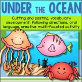 Ocean Animals Cut and Paste Literacy and Fine Motor Activities