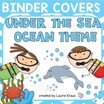 Ocean / Under the Sea Theme Binder Covers