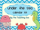 Ocean Under the Sea Theme Calendar Kit Bundle