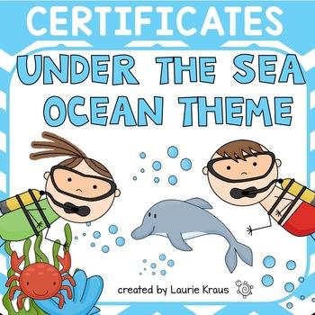Ocean / Under the Sea Theme Certificates
