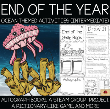 Ocean {Under the Sea} Themed Memory Books and Year End Activities {Intermediate}
