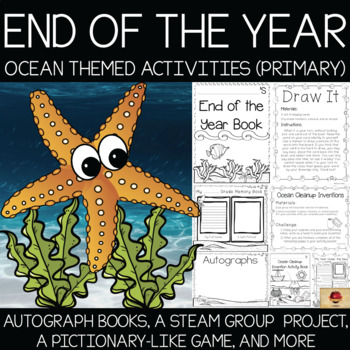 Ocean {Under the Sea} Themed Memory Books and Year End Activities {Primary}