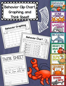 Ocean Underwater Theme Classroom Decor Bundle (Behavior Chart, Name Plates)