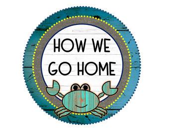 "Ocean & Underwater Theme (""Under the Shabby Sea"") How We Go Home Clip Chart"