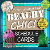 "Ocean & Underwater Theme (""Under the Shabby Sea"") Schedule Cards"