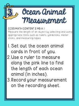 Ocean Unit (Math Centers ONLY)