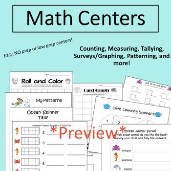 Ocean Unit: Math and Literacy for Kindergarten