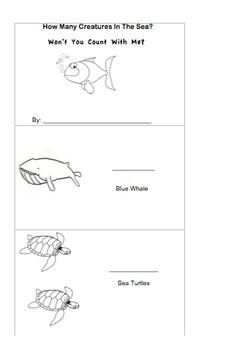 Ocean Unit: Sea Creatures Counting Book