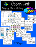 Ocean Unit: Writing*Science* Math: Centers, Lessons, and More** K-1st Grade*